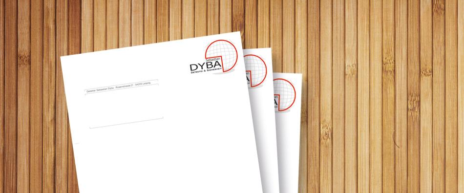 Briefbögen Briefpapier Wood Advertising