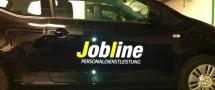 Seiten- & Heckscheibenbeschriftung Jobline